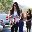 Kylie and Kendall Jenner out at the Calabasas Commons (January 7)