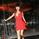 Bai Ling in Red Dress – Leaves Katsuya Restaurant in Hollywood - 454 x 605