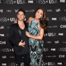 Nia Sanchez and Daniel Booko- 2016 Miss USA Competition- Arrivals - 421 x 600