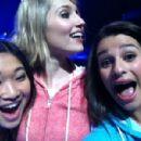 Jenna Ushkowitz, Lea Michele & Dianna Agron of Glee