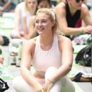 Iskra Lawrence –  Joining Yoga summer solstice celebration in New York