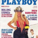 Jenny McCarthy, Drew Barrymore - Playboy Magazine Cover [Mexico] (January 1995)
