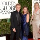 Musician Jon Bon Jovi and Dorothea Hurley arrive at the 70th Annual Golden Globe Awards on January 13th, 2013