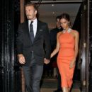 Victoria Beckham: attending Simon Fuller's birthday party in London
