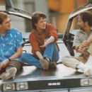 Robert Zemeckis, Michael J. Fox and Steven Spielberg in Back to the Future Part  (1985) - Off Set