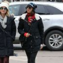 Nina Dobrev in Spandex – Out and about in Aspen