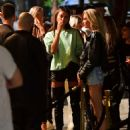 Irina Shayk with Stella Maxwell – Hits the Town for a Night out in NY - 454 x 567