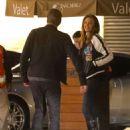 Cindy Crawford in Jeans with Rande Gerber at Nobu in Malibu - 454 x 584