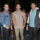 Jonas Brothers leaving their New York City hotel on Sept. 11