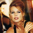 Claudia Schiffer - Vogue Magazine Pictorial [Germany] (January 1991) - 454 x 612