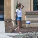 Audrina Patridge in Denim Shorts – Out in Anaheim Hills
