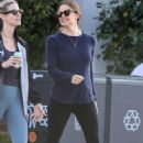 Jennifer Garner with a friend out in Santa Monica
