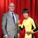 Madame Tussauds New York welcomes Bruce Lee's wax figure for a limited time at Madame Tussauds on August 13, 2014 in New York City - 391 x 594