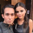 Selena Gomez seen taking pictures with fans outside the Ralph Lauren fashion show at Gallow Green at the McKittrick Hotel on September 11, 2015 in New York City