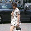 Katie Holmes in Mini Dress – Shopping in Manhattan - 454 x 681