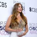 Sofia Vergara, winner of the Favorite Comedic TV Actress Award, poses in the press room during the People's Choice Awards 2017 at Microsoft Theater on January 18, 2017 in Los Angeles, California