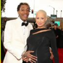 Amber Rose and Wiz Khalifa arrive at the 55th Annual GRAMMY Awards at the Staples Center in Los Angeles, California - February 10, 2013 - 454 x 593