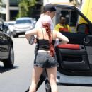 Ariel Winter in Black Shorts Arriving at a private gym in LA - 454 x 630