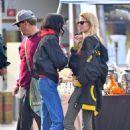 Stella Maxwell and Langley Fox at the Rosebowl Flea Market in Pasadena - 454 x 681