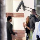 Mandy Moore – On the set of 'This Is Us' in Pasadena - 454 x 568