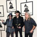 Musicians Phil Campbell, Lemmy and Mikkey Dee of Motorhead attend The 57th Annual GRAMMY Awards at the STAPLES Center on February 8, 2015 in Los Angeles, California