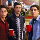 Thomas Ian Nicholas, Eddie Kaye Thomas and Jason Biggs in Universal's American Pie 2 - 2001