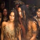 Q'orianka Kilcher as Pocahontas and Kalani Queypo as Parahunt in New Line Cinema's upcoming film, The New World.