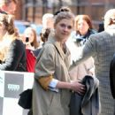 Clemence Poesy – Leaves AOL Build Series in New York City - 454 x 454