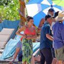 Lea Michele filming in Hawaii