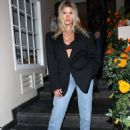 Sofia Richie in a Black Blazer and Jeans at Kate Somerville in West Hollywood