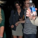 Ed Westwick and Jessica Szohr were spotted leaving a hotel on Miami Beach on Saturday night (February 6).