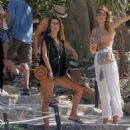 Alessandra Ambrosio in Bikini on the beach in Mexico