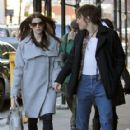 Ashley Greene kicked off weekend with her boyfriend, Reeve Carney in New York City today, February 3