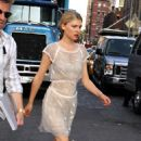 Clemence Poesy - On Set Of Gossip Girl In NYC, 15.07.10