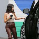 Kourtney Kardashian – Leaving the Kardashian family studio in Calabasas