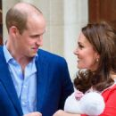 Kate Middleton and Prince William with their newborn son in Paddington