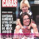 Luciana Gimenez with her son Lucas Jagger at Rolling Stones show - 2002