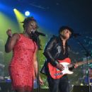 Ledisi Anibade Young and Guitarist Richie Sambora perform onstage at the Songwriters Hall Of Fame 46th Annual Induction And Awards at Marriott Marquis Hotel on June 18, 2015 in New York City. - 454 x 332
