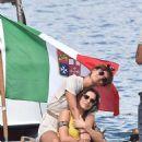 Claudia Vieira out in Portofino