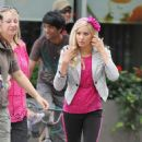 Ashley Tisdale On Set In Vancouver - June 6, 2010