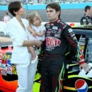 Jeff Gordon and Ingrid Vandebosch Photograph - 404 x 594