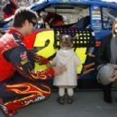Jeff Gordon and Ingrid Vandebosch Photograph - 454 x 299