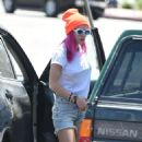 Bella Thorne in Denim Shorts out in Los Angeles - 454 x 825