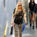 Fergie steps out in animal print