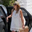 Jessica Alba in Mini Dress Out in LA