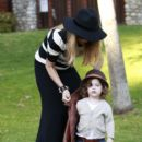 Rachel Zoe: takes her son Skylar to the Cold water Park in Beverly Hills