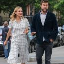 Actress Diane Kruger and Joshua Jackson spotted out for an evening stroll in New York City, New York on June 8, 2015 - 438 x 600