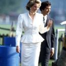 Princess Diana and Oliver Hoare at Guards Polo Club - 1986