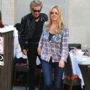 Rod Stewart and Penny Lancaster spotted out for lunch at the 208 Rodeo Restaurant in Beverly Hills, California on January 13, 2015 - 410 x 594
