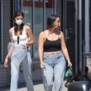 Emily Ratajkowski – Picks up her dog Colombo from the vet with a friend in Los Angeles